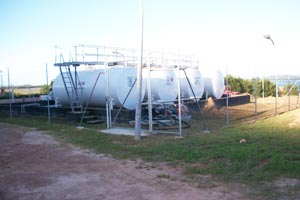 Bulk tanks for Unleaded and Diesel fuel storage